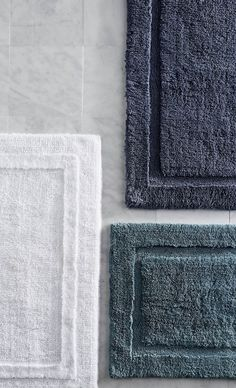 Crafted from premium long-staple cotton that coordinates perfectly with our Resort Towels, our bath rugs are deliciously plush underfoot. The combed cotton ensures rich, saturated color and exceptional softness.