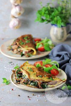 Omlet z kiełbasą szpinakiem i pieczarkami Tacos, Mexican, Ethnic Recipes, Food, Essen, Meals, Yemek, Mexicans, Eten