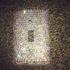 Swavorski crystal light switch cover