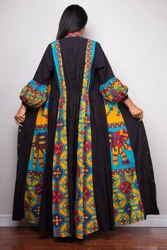 Fashions Women S Blouson Halter Crochet Dress Abaya Fashion, Kimono Fashion, Fashion Dresses, Boho Fashion Over 40, Fashion Spring, Duster Dress, Iranian Women Fashion, Bell Sleeve Dress, Bell Sleeves