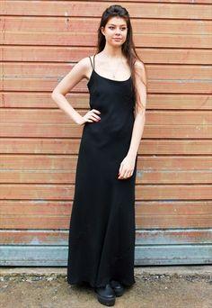 5a13d9b4 Vintage Black Full Length Evening Dress Dress Shirts For Women, Evening  Gowns, Vintage Black