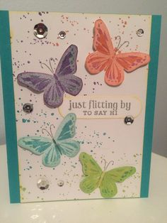Hero Arts Color layering butterflies.