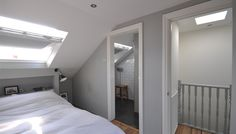 Loft conversion with ensuite - are these the kind of dimensions of our plans? Loft conversion with ensuite - are these the kind of dimensions of our plans? Loft Conversion, Home, Bedroom Loft, Loft Room, Loft Spaces, Small Rooms, Loft Bathroom, Room Layout, Small Bungalow