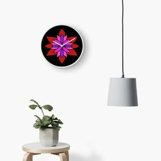 """Lotus Star Design"" Clock by Pultzar 
