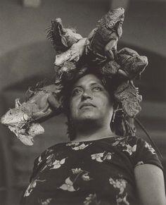 Nuestra Señora de las Iguanas [Our Lady of the Iguana], Juchitán, Mexico, 1979 by Graciela Iturbide