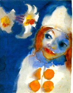 clown, by emil nolde #art #emilnolde #clown