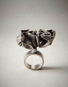 Ring   Soohye Park. 'Crumpled'  Sterling silver