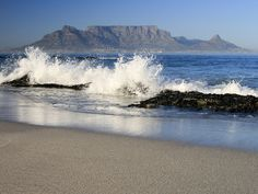 Bloubergstrand in Cape Town South Africa also known als Blaauwbergstrand