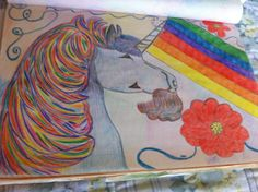 Unicorn Colored pencil Drawing By Christina V Saunders Photo courtesy of Creative Artistry By Christina V Saunders