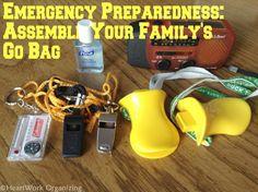 September is National Preparedness Month: Assemble Your Family's Go Bag