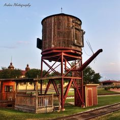 Water tower for a train