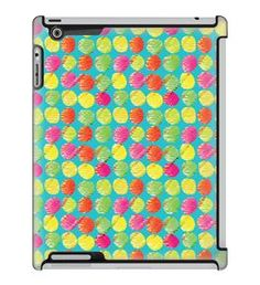 Uncommon LLC Deflector Hard Case for iPad 2/3/4, Crooked Brushed Dots Blue (C0060-VM)