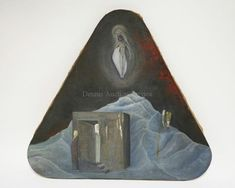 RICHARD MANN RELIGIOUS OIL PAINTING ON CANVAS. TRIANGULAR STRETCHER ... Lot 1185 | #1737578755 Oil Painting On Canvas, Art, Craft Art, Kunst, Art Education, Sanat