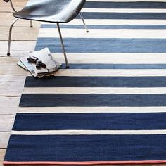 Gradated Stripe Cotton Dhurrie - Half Moon #WestElm