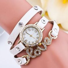 SHARE & Get it FREE | Faux Leather Rhinestone Love Bracelet WatchFor Fashion Lovers only:80,000+ Items • FREE SHIPPING Join Twinkledeals: Get YOUR $50 NOW!