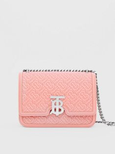 BURBERRY Small Quilted Monogram Lambskin TB Bag. #burberry #bags #shoulder bags #leather #crossbody #lining