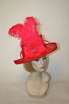 Hot Pink Fuchsia Sinamay Kentucky Derby Hat! $199 Click on photo to purchase!