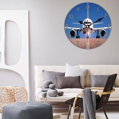 Face to Face with Airbus Printed Wall Clocks Wooden Shapes, Digital Form, Wall Clocks, Separates, Wall Prints, Aviation, Bamboo, Passion, Display