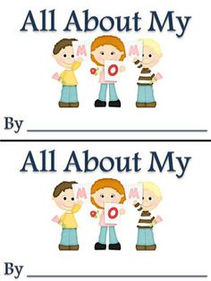 """All About My Mom"" Booklet (free; from Fun in First Grade)"