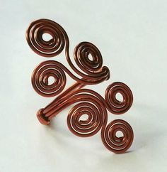 Wow, this Wire-Wrapped Swirls Ring is just so cool!