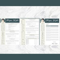 Creative Professional Resume + Cover letter Template Editable for MS Word - Curriculum Vitae - English CV with Fonts included - Resume Cover Letter Template, Cv Template, Letter Templates, Resume Templates, Professional Resume, Good Mood, Thank You Cards, Knowledge, Lettering