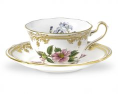 Spode, Stafford Flowers tea cup w/saucer