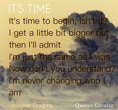 It's Time-Imagine Dragons @ The Almighty Bookworm on Pinterest