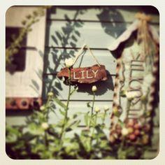 Driftwood sign for a playhouse Playhouse Interior, Driftwood Signs, Girls Camp, Play Houses, Wood Watch, Bird Feeders, Garden, Outdoor Decor, Wooden Clock