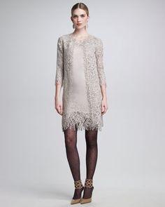 Bird Nest Coat  amp  Sleeveless Dress With Sequins by Oscar de la Renta at  Bergdorf 6cd8f8d68