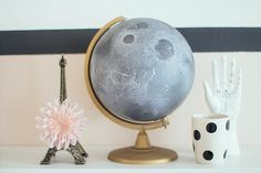 Transform a globe into the moon