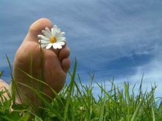 Heerlijk. Mje blote voeten op het gras lopen!
