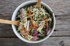 Rainbow Vegetable Slaw // nutritionstripped.com