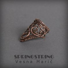 Wire wrapped copper ring by VesnaMaric.deviantart.com on @DeviantArt