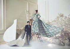 Korean Studio Pre-Wedding Photography: 2016 Romantic Vintage Collection  by Bong Studio on OneThreeOneFour 11