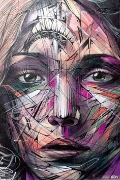 Street Art d'Hopare à la rue Chapon, Paris 3 me./ 26/09/14.