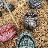 Polish pisanki - kroszonki opolskie Barware, Coasters, Polish, Vitreous Enamel, Bar Accessories, Drink Coasters, Nail Polish, Coaster Set, Coaster