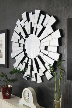 Stunning Modern Venetian  Sunburst Effect Large Wall Mirror  2Ft11 90cm