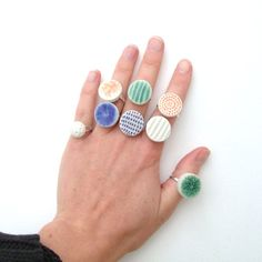 Porcelain rings by Lisa Stevens