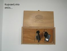 How to make a key holder from a wooden cigar box!