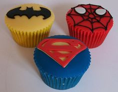 superhero cupcakes!