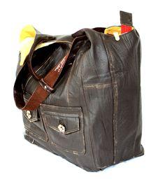 Handmade Oversized leather bag, reclaimed leather, Upcycled leather Hobo, Recycled Leather Hobo, Large Leather Bag, Reused, Leather Handbag by byBessert on Etsy