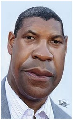 [ Denzel Washington ]  - artist: Vincent Altamore - website: http://vincentaltamore.blogspot.com/