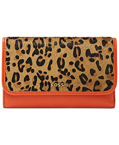 Fossil Leopard and Orange Wallet. #obsession