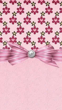 Pink flowers with bow * . papel digital в 2019 Bow Wallpaper, Diamond Wallpaper, Flowery Wallpaper, Locked Wallpaper, Cellphone Wallpaper, Mobile Wallpaper, Wallpaper Backgrounds, Iphone Wallpaper, Pink Flowers