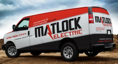 Electrician truck wrap for electrical contractor in CT.