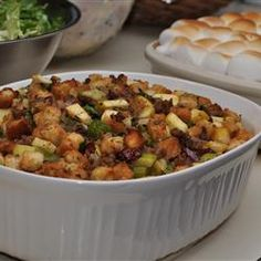 Cranberry, Sausage and Apple Stuffing Allrecipes.com