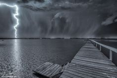 Last nights storm at Long Jetty, Central Coast,... 9.45pm.