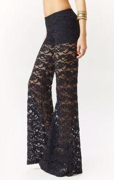 dixie lace bells by Fashion Pants, Boho Fashion, Autumn Fashion, Fashion Outfits, Fashion 2014, Edgy Outfits, Cute Outfits, Black Wardrobe, Lace Pants