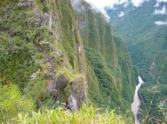 View of the Urubamba River from Huayna Picchu