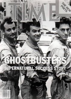 Ghostbusters on Time Magazine 80s Movies, Great Movies, Love Movie, Movie Tv, Paranormal, The Real Ghostbusters, Ghost Busters, Hollywood, Movie Posters